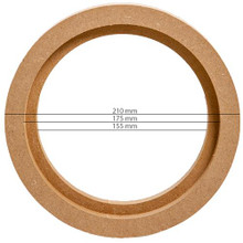 "MDF RING FOR 6.5"" or 16.5cm (PAIR OF)"