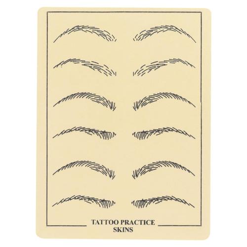 Leather eyebrow practice skin