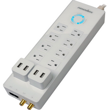 Power all your devices with protection using this innovate power strip. This floor strip offers best in class protection with over/under voltage protection technology, the best protection ever available at this price point!
