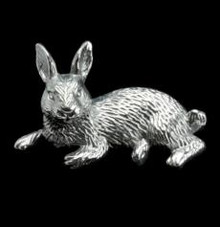 Bunny Rabbit Figural Paper Weight