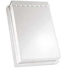 Silver Covered Pad Holder