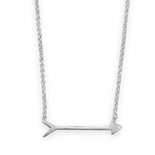 "Cupid's Arrow Necklace 16"" Sterling Silver"