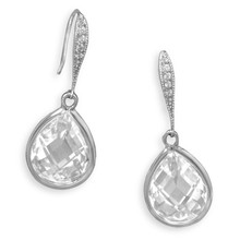 Cubic Zerconia  Drop Earrings