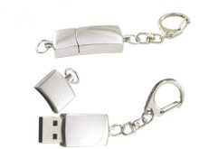 Polished Silver Flash Drive 4GB Key Chain