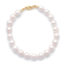 Cultured AAA Akoya Pearls Bracelett 14K Gold