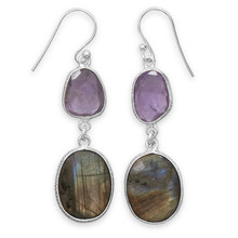 Amethyst & Labradorite Earrings