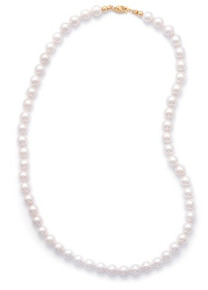 Cultured AAA Akoya Pearls 14k Gold Clasp