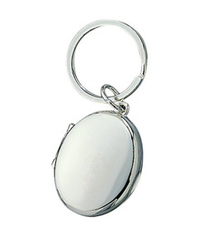 Oval Locket Key Chain