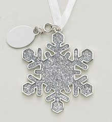 Holiday Snowflake Ornament Sparkle With Tag