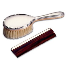 Girl's Brush and Comb Set Sterling Silver