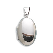 Oval Locket Sterling Silver