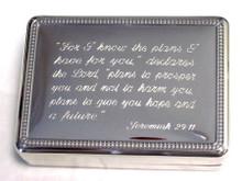 Jeremiah 29:11 Box Silver