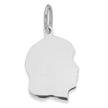 Girl Silhouette Charm Sterling Silver