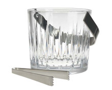 Crystal Ice Bucket With Tongs,6""