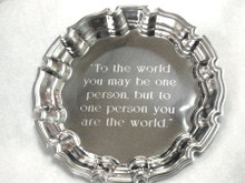 """To The World"" Tray 8-1/2"" Diameter"