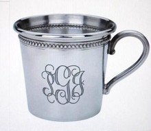 Baby Beaded Cup Pewter