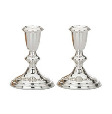 """Sterling Silver Candelstick,Pair 4-1/2""""H."""