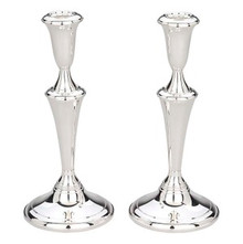 "Sterling Silver Candelstick,Pair 9""H."
