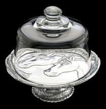Horse Footed Plate with Glass Dome