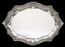 Large Oval Fleur De Lis Serving Tray