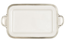 arte italica  large rectangular tray with handles