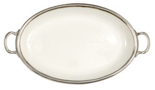 arte italica  large oval platter with handles