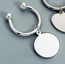 Round Tag Key Ring