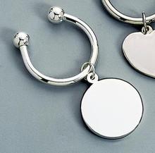 Round Tag Key Ring