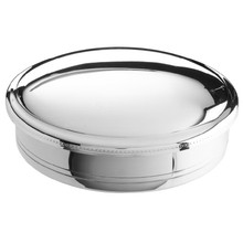"Brite Pewter 5"" Round Box"