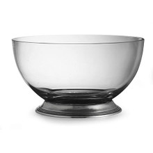 Glass and Pewter Serving Bowl