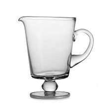 Elegant Footed Beaded Pitcher