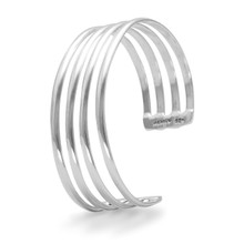 Four Row Sterling Silver Cuff