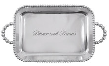Pearled Handled Serving Tray
