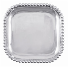 Beaded Edge Square Platter Tray