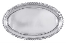 Oval Beaded Edge Tray