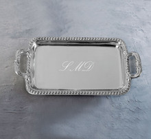 Beaded Edge Rectangular Tray with Handles