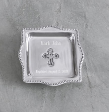 Cross Square Tray Keepsake Heirloom