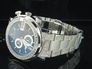 Diamond Gucci Watch Ya101309 Mens 6.50 ct. Custom Iced Band Black Face w/Chrono.