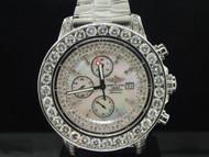Brand New Mens Breitling Super Avenger 1 Row Big Diamond Custom Watch 22.55 Ct.