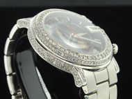 "Diamond Gucci 101G Custom ""G"" Watch Mens 6 Ct. with Side Casing 1 Row YA101309"