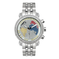 Men's Diamond Watch Joe Rodeo Classic JCL49(Y) 1.75 Ct World Map Dial