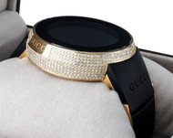 Diamond Gucci I-Gucci Watch Digital Grammy Edition YA114215 Black/Gold 2.5 CT.