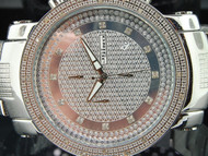MENS JOJINO/JOJO/JOE RODEO DIAMOND WATCH SHINY DIAL .25 CT BIG FACE 50MM MJ-1101