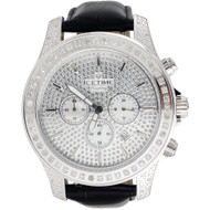 Mens Diamond Watch IceTime Iceberg Joe Rodeo Illusion Chronograph Dial 2.50 CT.
