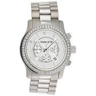 Michael Kors Oversized Runway MK8086 Diamond Watch 45mm Stainless Steel 1.95 CT.