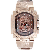 Jesus Face Mens Diamond Watch Aqua Master Jojo Jojino Joe Rodeo 0.16 Ctw W#323-R