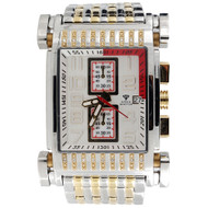 Mens Diamond Watch Aqua Master Jojo Jojino Joe Rodeo Two Tone W#330 1/4 CT.