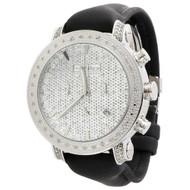 Mens JoJo Treasure JoJino Joe Rodeo 0.36 Ct Diamond Watch Marker 46mm Dial JTR31