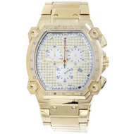 Mens Aqua Master Diamond Chronograph Watch 40mm Rectangle Cargo W#143 0.25 Ct.