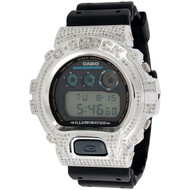 G-Shock Real White Diamond Watch Casio Custom Casing DW6900-1V Model 2.50 CT.